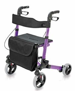 Health Smart Four Wheel Rollator Walker
